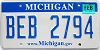 2008 Michigan graphic # BEB-2794