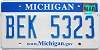 2008 Michigan graphic # BEK-5323