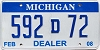 2008 Michigan Dealer # 592D72