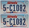 2008 Nebraska Wagon graphic pair # C1082, Dodge County