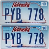 2008 Nebraska Wagon graphic pair # PYB-778