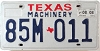 2008 TEXAS MACHINERY license plate # 85M-011