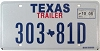 2008 TEXAS TRAILER license plate # 303-81D