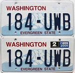 2008 Washington pair # 184-UWB