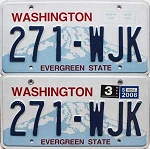 2008 Washington pair # 271-WJK
