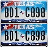 2009 Texas Lone Star pair #BD1-C898