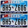 2009 Texas Lone Star pair #BH5-Z606