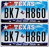 2009 Texas Lone Star pair #BK7-H860