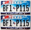 2009 Texas Lone Star pair #BF1-P115