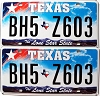 2009 Texas Lone Star pair #BH5-Z603