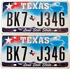 2009 Texas Lone Star pair #BK7-J346