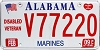 2009 Alabama Marines Disabled Veteran graphic # V77220