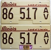 2009 Illinois Antique Vehicle graphic pair # 86 517