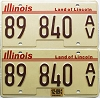 2009 Illinois Antique Vehicle graphic pair # 89 840