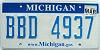 2009 Michigan graphic # BBD-4937