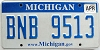 2009 Michigan graphic # BNB-9513