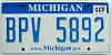 2009 Michigan graphic # BPV-5892