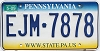 2009 Pennsylvania graphic # EJM-7878
