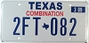 2009 TEXAS COMBINATION license plate # 2FT-082