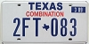 2009 TEXAS COMBINATION license plate # 2FT-083