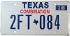 2009 TEXAS COMBINATION license plate # 2FT-084