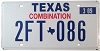 2009 TEXAS COMBINATION license plate # 2FT-086