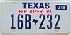 2009 TEXAS FERTILIZER TRUCK license plate # 16B-232