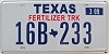 2009 TEXAS FERTILIZER TRUCK license plate # 16B-233