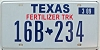 2009 TEXAS FERTILIZER TRUCK license plate # 16B-234