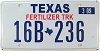 2009 TEXAS FERTILIZER TRUCK license plate # 16B-236
