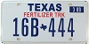 2009 TEXAS FERTILIZER TRUCK license plate # 16B-444