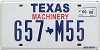 2009 TEXAS MACHINERY license plate # 657-M55