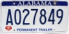 2010 Alabama Permanent Trailer # A027849