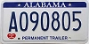 2010 Alabama Permanent Trailer # A090805