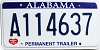 2010 Alabama Permanent Trailer # A114637