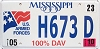 2010 Mississippi Disabled Veteran # H673D