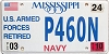 2010 Mississippi Navy Retired # P460N