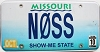 2010 Missouri Vanity graphic # NOSS