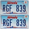 2010 Nebraska Wagon graphic pair # RGF-839