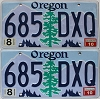 2010 Oregon graphic pair # 685-DXQ