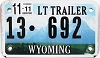 2011 Wyoming Light Trailer # 692, Converse County