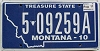 2011 Montana Treasure State # 5 09259A, Lewis and Clark County