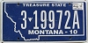 2011 Montana Treasure State # 3 19972A, Yellowstone County
