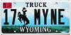 2012 Wyoming Truck Vanity # MYNE, Campbell County