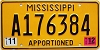 2012 Mississippi Apportioned # A176384