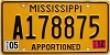 2012 Mississippi Apportioned # A178875