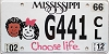 2012 Mississippi Choose Life graphic # G441
