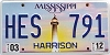 2012 Mississippi Lighthouse graphic # HES-791