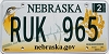 2012 Nebraska graphic # RUK-965