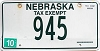 2012 Nebraska Tax Exempt # 945